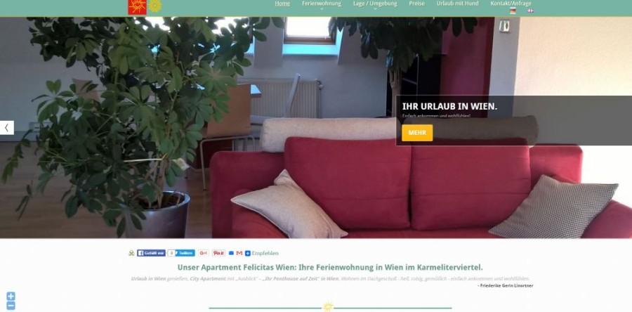 Apartment Ferienwohnung Wien Enchanting Apartment Website Design