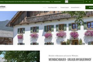 Urlaub am Bauernhof Wolfgangsee Weinbachbauer